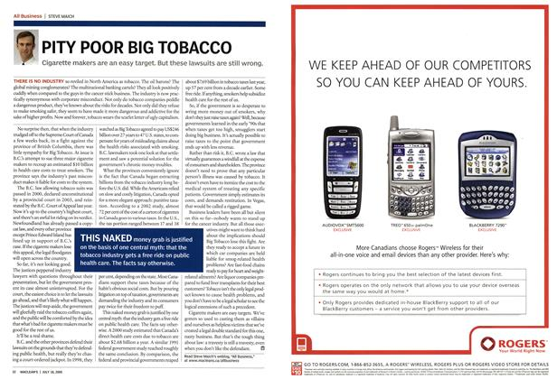 Article Preview: PITY POOR BIG TOBACCO, July 18th 2005 | Maclean's