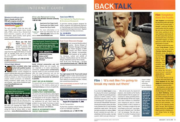 Article Preview: BACK TALK, July 18th 2005 | Maclean's