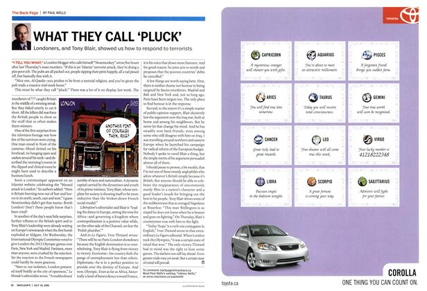 Article Preview: WHAT THEY CALL 'PLUCK', July 2005 | Maclean's