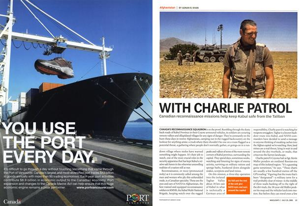 Article Preview: WITH CHARLIE PATROL, July 25th 2005 | Maclean's