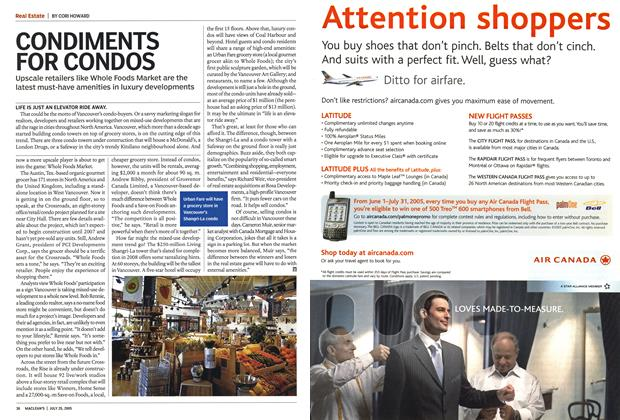 Article Preview: CONDIMENTS FOR CONDOS, July 25th 2005 | Maclean's