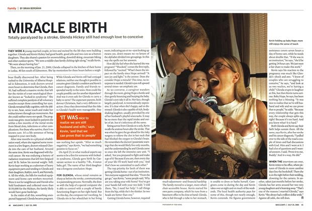 Article Preview: MIRACLE BIRTH, July 25th 2005 | Maclean's