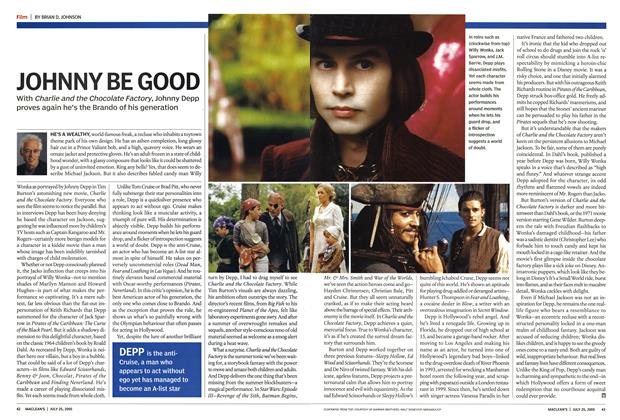 Article Preview: JOHNNY BE GOOD, July 25th 2005 | Maclean's