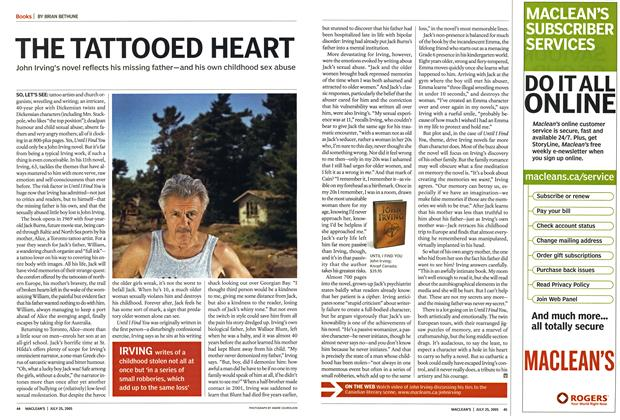 Article Preview: THE TATTOOED HEART, July 25th 2005 | Maclean's