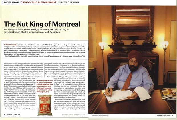 Article Preview: The Nut King of Montreal, July 25th 2005 | Maclean's