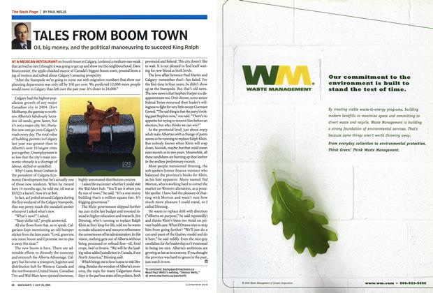 Article Preview: TALES FROM BOOM TOWN, July 25th 2005 | Maclean's