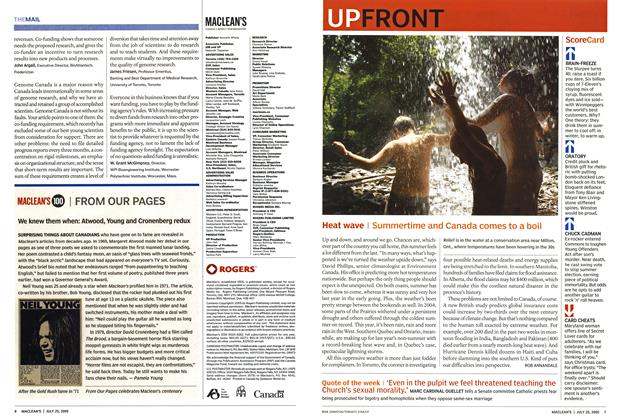 Article Preview: UP FRONT, July 25th 2005 | Maclean's