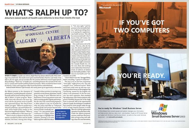 Article Preview: WHAT'S RALPH UP TO?, July 25th 2005 | Maclean's