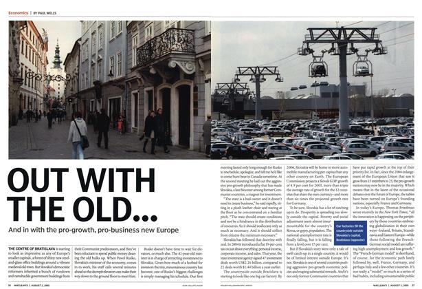 Article Preview: OUT WITH THE OLD..., August 2005 | Maclean's