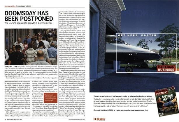 Article Preview: DOOMSDAY HAS BEEN POSTPONED, August 2005 | Maclean's