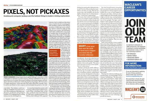 Article Preview: PIXELS, NOT PICKAXES, August 1st 2005 | Maclean's