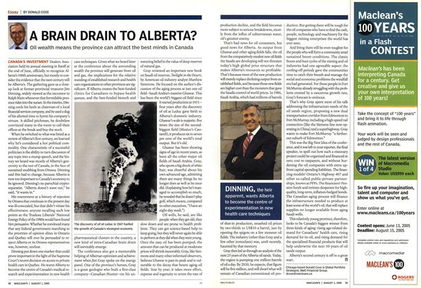 Article Preview: A BRAIN DRAIN TO ALBERTA?, August 1st 2005 | Maclean's