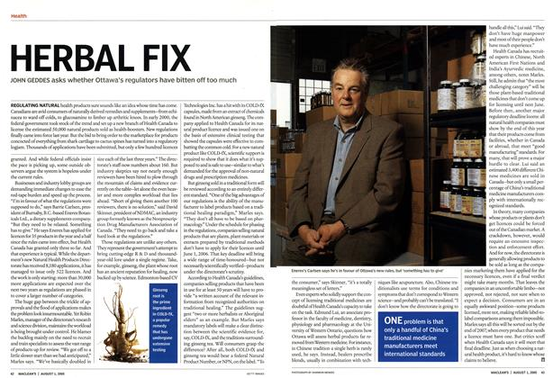 Article Preview: HERBAL FIX, August 1st 2005 | Maclean's