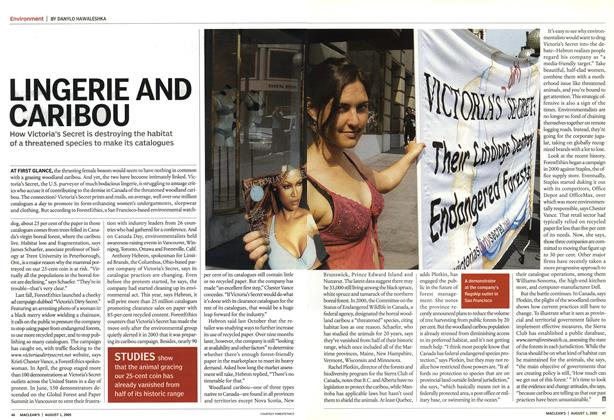 Article Preview: LINGERIE AND CARIBOU, August 1st 2005 | Maclean's