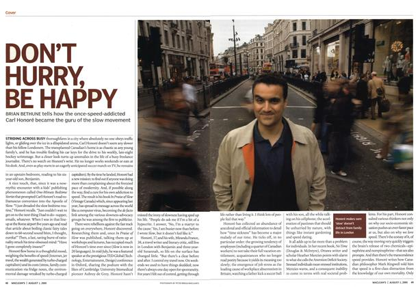 Article Preview: DON'T HURRY, BE HAPPY, August 2005 | Maclean's
