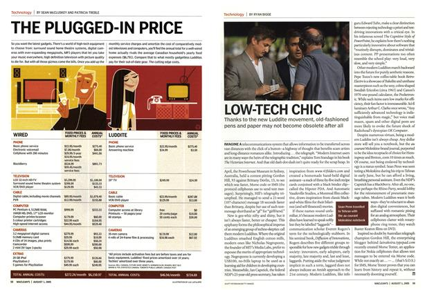 Article Preview: LOW-TECH CHIC, August 1st 2005 | Maclean's
