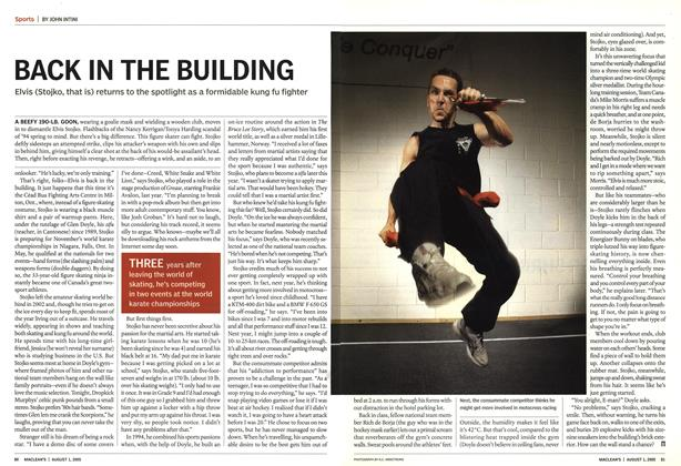Article Preview: BACK IN THE BUILDING, August 1st 2005 | Maclean's
