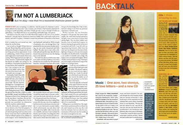 Article Preview: I'M NOT A LUMBERJACK, August 1st 2005 | Maclean's
