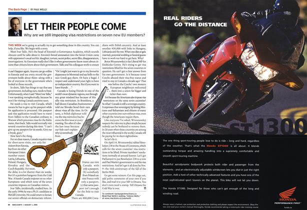 Article Preview: LET THEIR PEOPLE COME, August 1st 2005 | Maclean's
