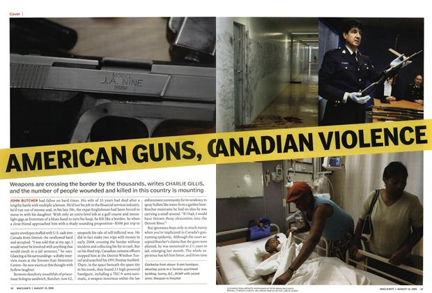 Article Preview: AMERICAN GUNS, CANADIAN VIOLENCE, August 2005 | Maclean's
