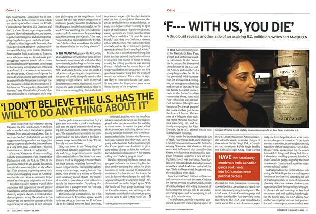 Article Preview: 'F— WITH US,YOU DIE', August 15th 2005 | Maclean's