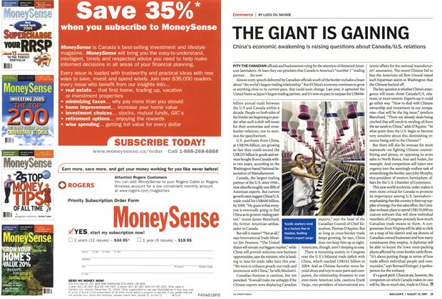Article Preview: THE GIANT IS GAINING, August 15th 2005 | Maclean's