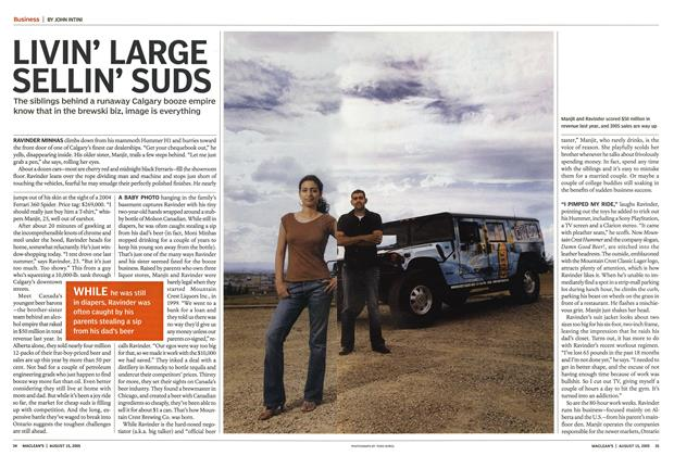 Article Preview: LIVIN' LARGE SELLIN' SUDS, August 2005 | Maclean's