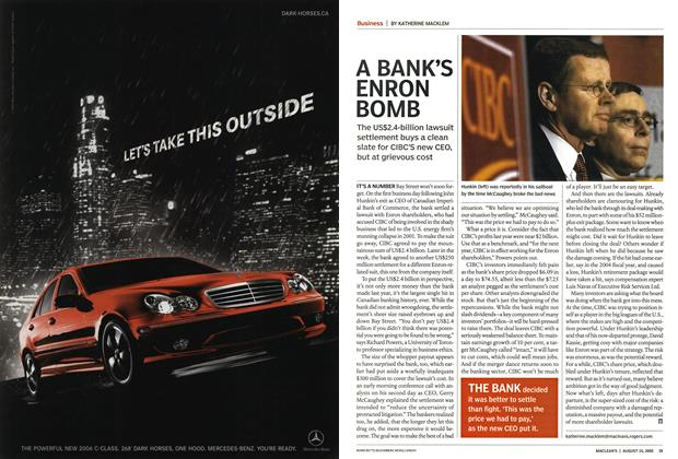 Article Preview: A BANK'S ENRON BOMB, August 15th 2005 | Maclean's