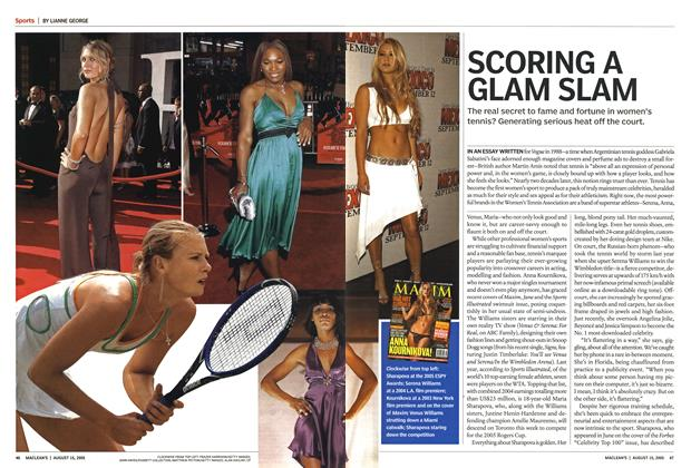 Article Preview: SCORING A GLAM SLAM, August 2005 | Maclean's