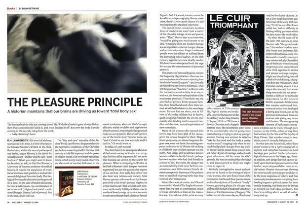 Article Preview: THE PLEASURE PRINCIPLE, August 15th 2005 | Maclean's
