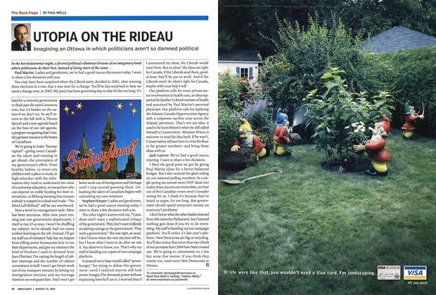 Article Preview: UTOPIA ON THE RIDEAU, August 15th 2005 | Maclean's