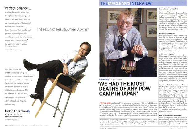 Article Preview: THE MACLEAN'S INTERVIEW, August 22nd 2005 | Maclean's