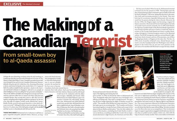 Article Preview: The Making of a Canadian Terrorist, August 22nd 2005 | Maclean's