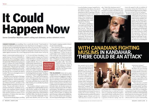 Article Preview: It Could Happen Now, August 22nd 2005 | Maclean's