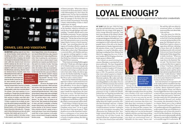 Article Preview: LOYAL ENOUGH?, August 22nd 2005 | Maclean's