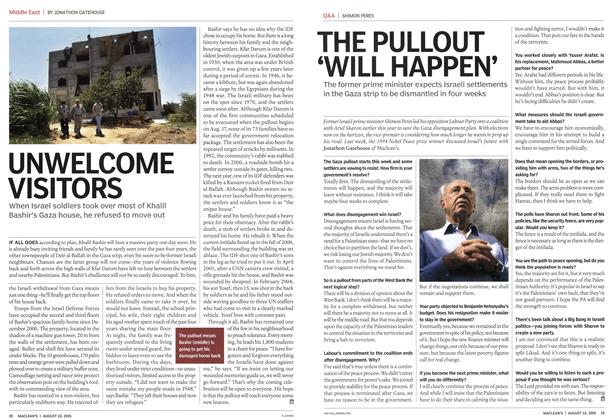 Article Preview: THE PULLOUT 'WILL HAPPEN', August 22nd 2005 | Maclean's