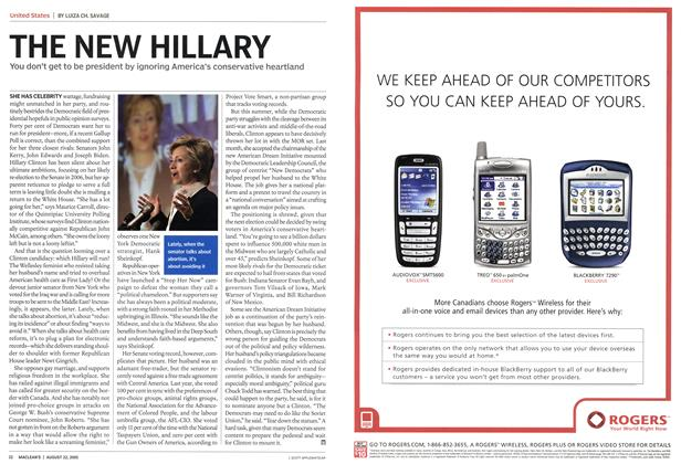 Article Preview: THE NEW HILLARY, August 2005 | Maclean's