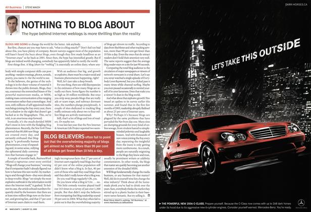 Article Preview: NOTHING TO BLOG ABOUT, August 22nd 2005 | Maclean's