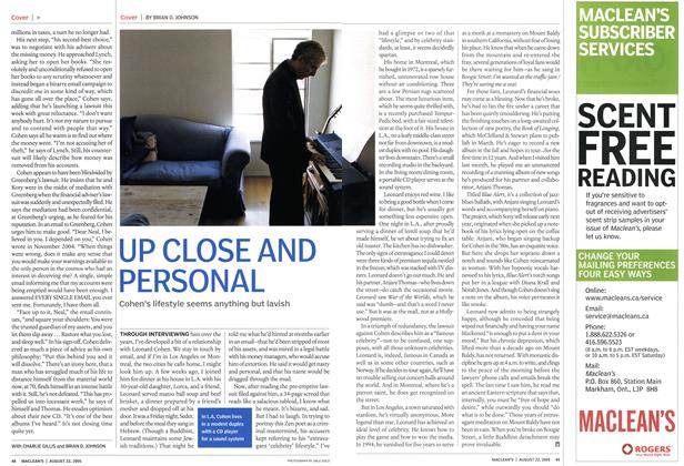 Article Preview: UP CLOSE AND PERSONAL, August 22nd 2005 | Maclean's