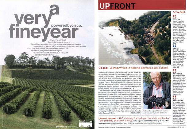 Article Preview: UP FRONT, August 22nd 2005 | Maclean's