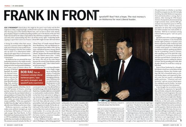 Article Preview: FRANK IN FRONT, August 2005 | Maclean's
