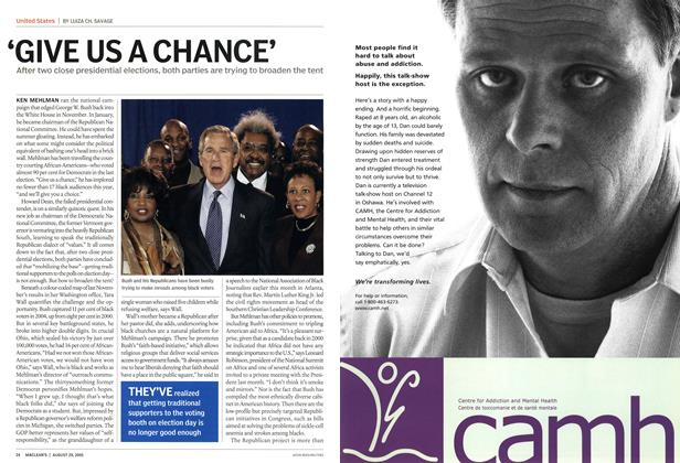 Article Preview: 'GIVE US A CHANCE', August 29th 2005 | Maclean's