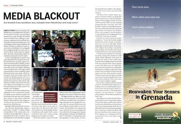 Article Preview: MEDIA BLACKOUT, August 29th 2005 | Maclean's