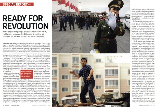 Article Preview: READY FOR REVOLUTION, August 29th 2005 | Maclean's