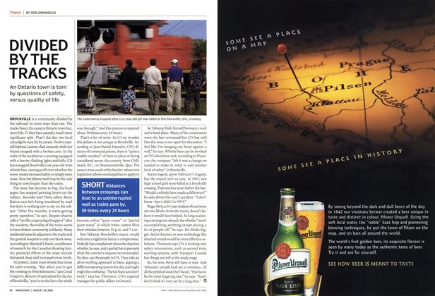 Article Preview: DIVIDED BY THE TRACKS, August 29th 2005 | Maclean's