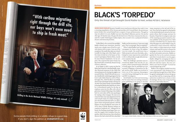 Article Preview: BLACK'S 'TORPEDO', August 29th 2005 | Maclean's