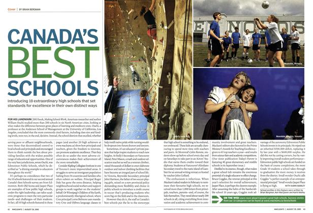 Article Preview: CANADA'S BEST SCHOOLS, August 29th 2005 | Maclean's