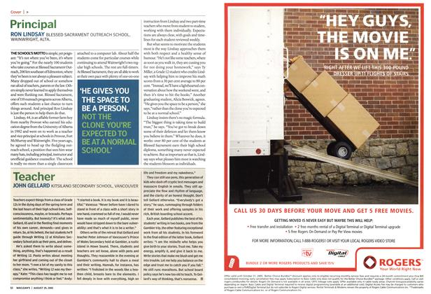 Article Preview: Teacher, August 29th 2005 | Maclean's
