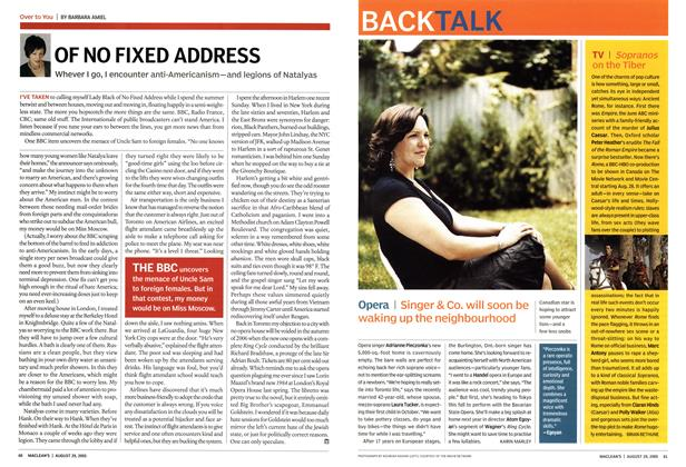 Article Preview: OF NO FIXED ADDRESS, August 29th 2005 | Maclean's