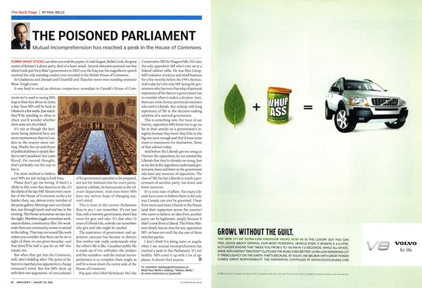 Article Preview: THE POISONED PARLIAMENT, August 29th 2005 | Maclean's